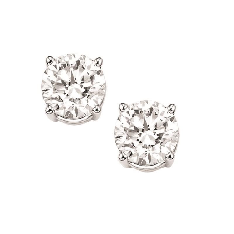 Diamond Stud Earrings In 18K White Gold (5/8 Ct. Tw.) I1 - G/H