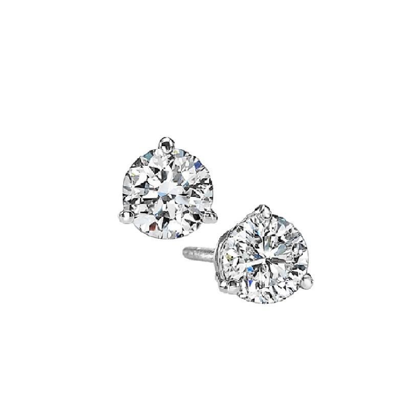 Martini Diamond Stud Earrings In 14K White Gold (1/8 Ct. Tw.) I1 - G/H