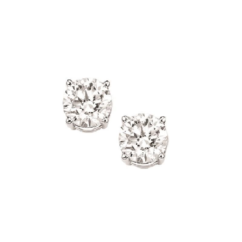 Diamond Stud Earrings In 14K White Gold (1/7 Ct. Tw.) I1/I2 - G/H