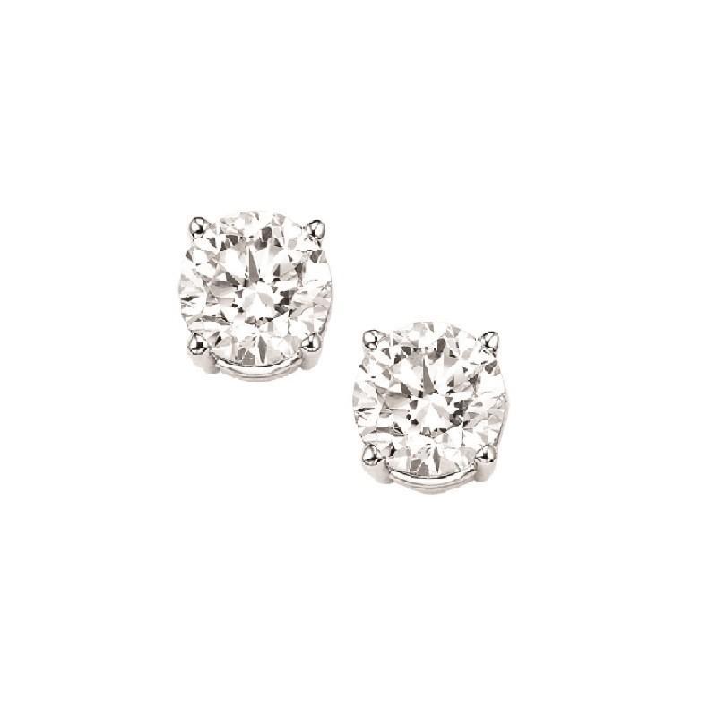 Diamond Stud Earrings In 14K White Gold (1/5 Ct. Tw.) I1/I2 - G/H