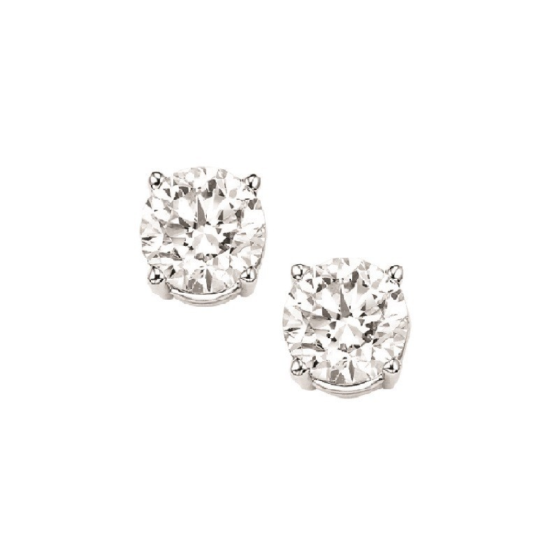 Diamond Stud Earrings In 14K White Gold (3/8 Ct. Tw.) I1/I2 - G/H