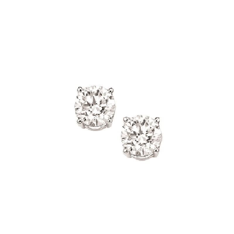 Diamond Stud Earrings In 14K White Gold (1/20 Ct. Tw.) I1/I2 - J/K