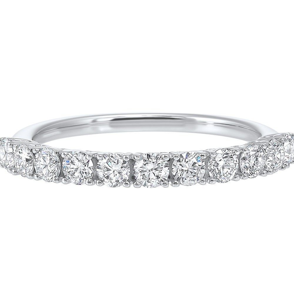 14K White Gold 11 Stone Prong Diamond Band (3/4 Ct. Tw.)