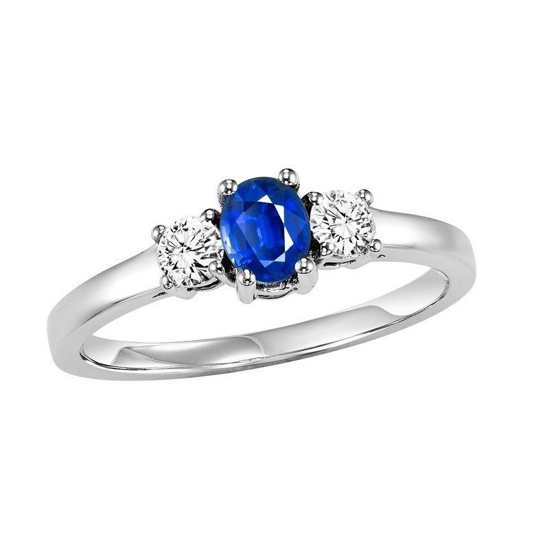 14K White Gold Prong Sapphire Ring (1/4 Ct. Tw.)
