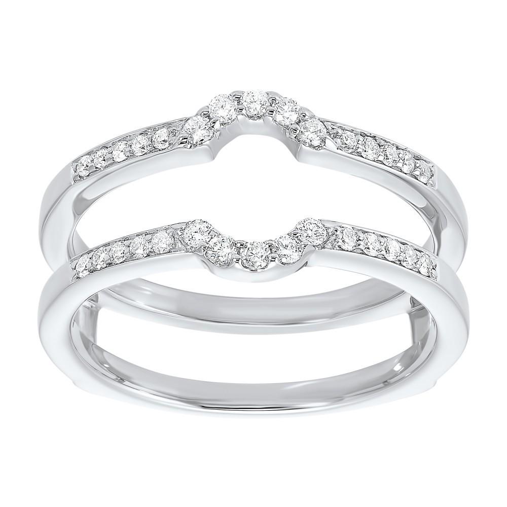 Prong Set Diamond Insert Ring In 14K White Gold (1/4 Ct. Tw.)