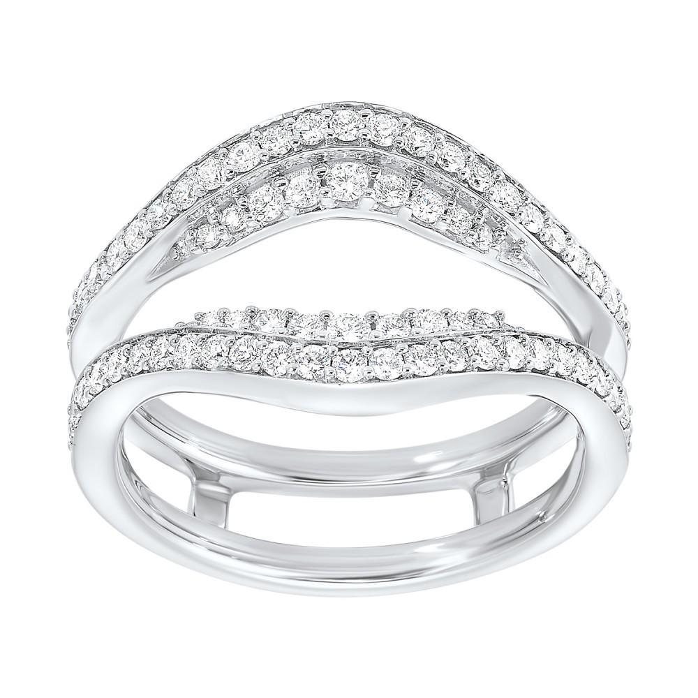 Prong Set Diamond Insert Ring In 14K White Gold (5/8 Ct. Tw.)