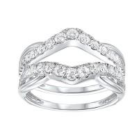 14K White Gold Inserts Prong Diamond Ring (1/2 Ct. Tw.)