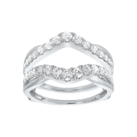 14K White Gold Inserts Prong Diamond Ring (1 Ct. Tw.)