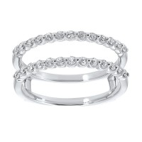 14K White Gold Inserts Single Prong Diamond Ring (1/3 Ct. Tw.)