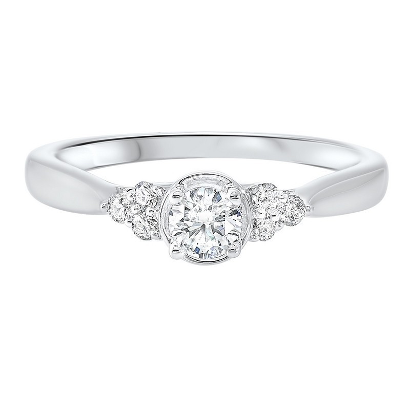 14K White Gold Complete Prong Diamond Ring (1/3 Ct. Tw.)