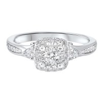 14K White Gold Complete Micro Prong Diamond Ring (1/2 Ct. Tw.)