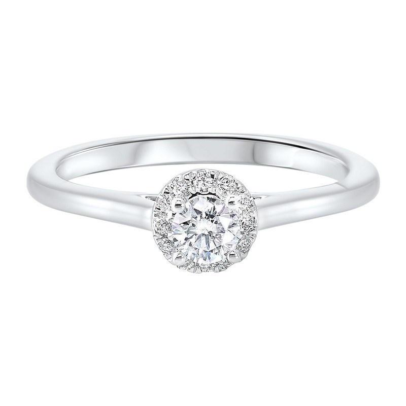 14K White Gold Complete Micro Prong Diamond Ring (1/3 Ct. Tw.)