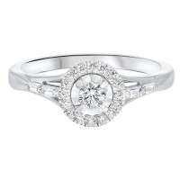 14K White Gold Complete Micro Prong Diamond Ring (2/5 Ct. Tw.)