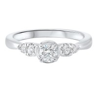 14K White Gold Complete Prong Diamond Ring (1/2 Ct. Tw.)