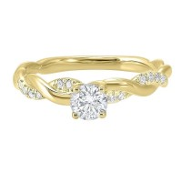 14K Yellow Gold Complete Micro Prong Diamond Ring (1/2 Ct. Tw.)