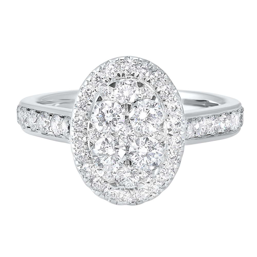 14K White Gold Complete Micro Prong Diamond Ring 1 (1/6 Ct. Tw.)