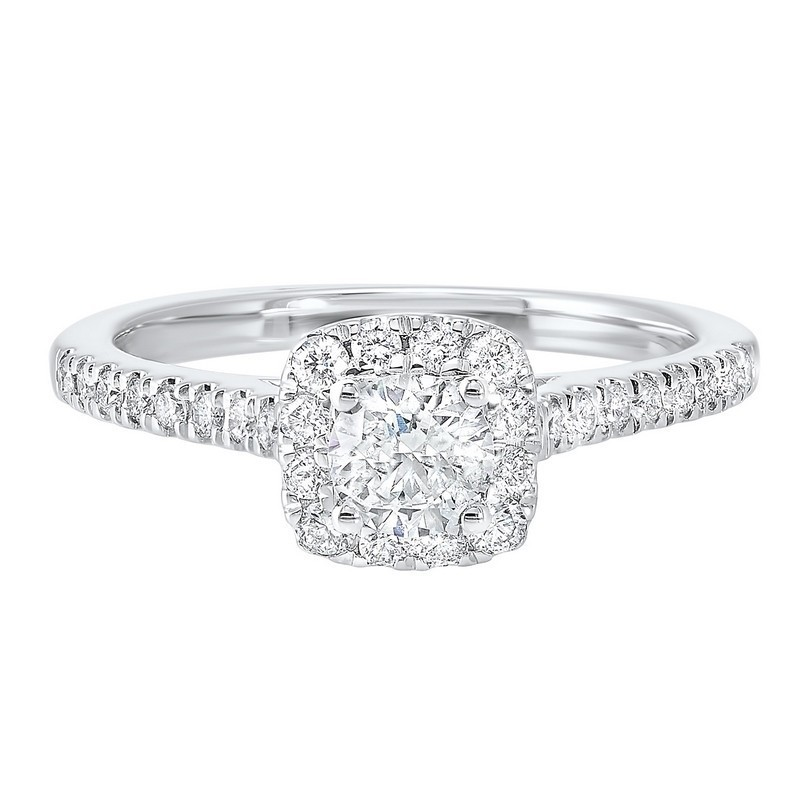 14K White Gold Complete Split Prong Diamond Ring (3/4 Ct. Tw.)