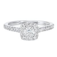 14K White Gold Complete Split Prong Diamond Ring (3/4 Ct. Tw.)