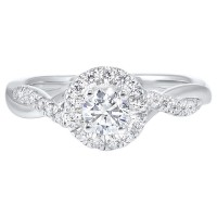 14K White Gold Complete Micro Prong Diamond Ring (3/4 Ct. Tw.)