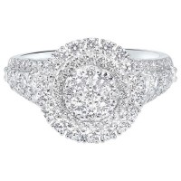14K White Gold Complete Micro Prong Diamond Ring 1 (5/8 Ct. Tw.)