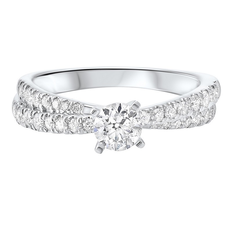 14K White Gold Complete Micro Prong Diamond Ring (1 Ct. Tw.)
