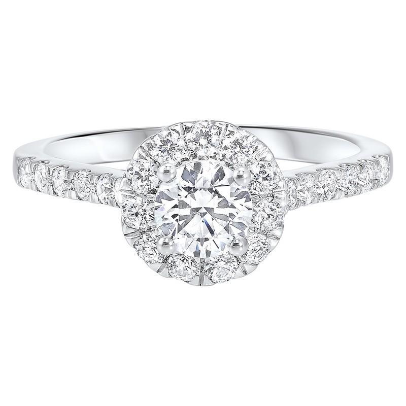 14K White Gold Complete Split Prong Diamond Ring (1 Ct. Tw.)
