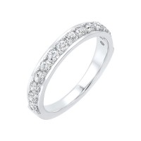 14K White Gold Overtures Micro Prong Diamond Ring (1/2 Ct. Tw.)
