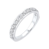 14K White Gold Overtures Micro Prong Diamond Ring (1 Ct. Tw.)