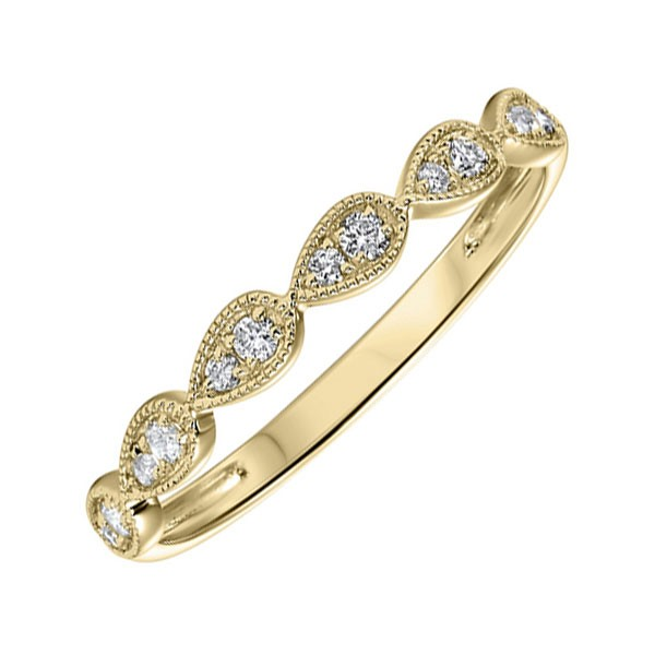 Stackable Teardrop Diamond Band 10K Yellow Gold (1/8 Ct. Tw.)