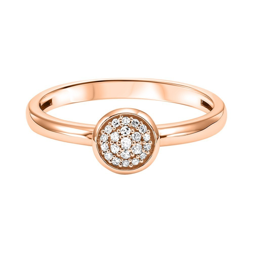 Stackable Circle Diamond Band In 10K Rose Gold (1/12 Ct. Tw.)