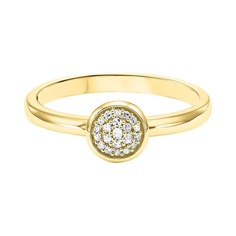 Stackable Circle Diamond Band In 10K Yellow Gold (1/12 Ct. Tw.)
