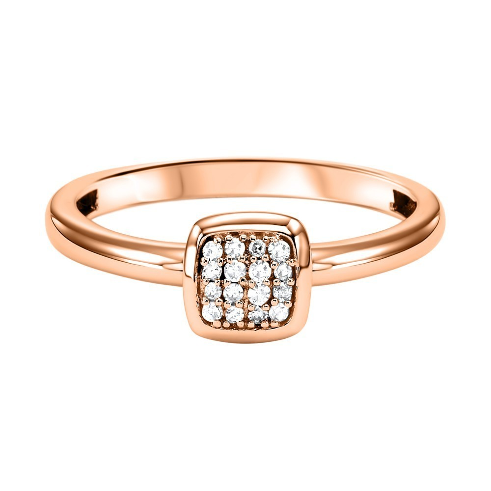 Stackable Cushion Diamond Band In 10K Rose Gold (1/12 Ct. Tw.)