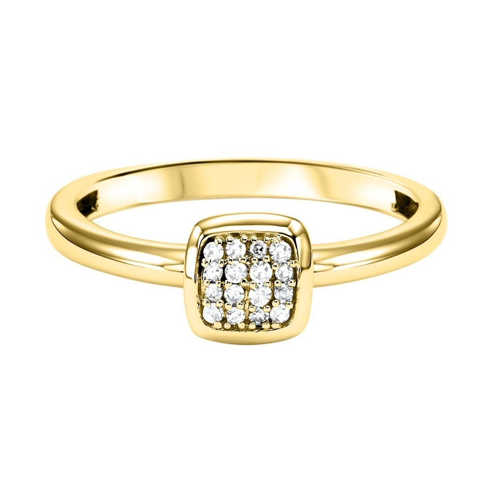 Stackable Cushion Diamond Band In 10K Yellow Gold (1/12 Ct. Tw.)