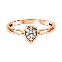 10K Rose Gold Stackable Prong Diamond Band (1/12 Ct. Tw.)