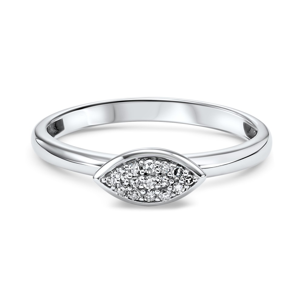10K White Gold Stackable Prong Diamond Band (1/12 Ct. Tw.)