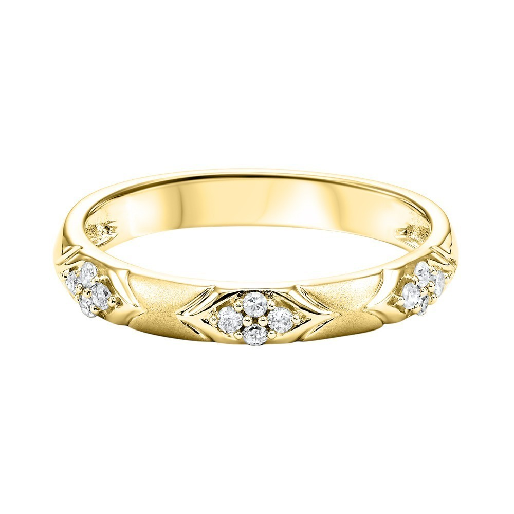 10K Yellow Gold Stackable Prong Diamond Band (1/8 Ct. Tw.)