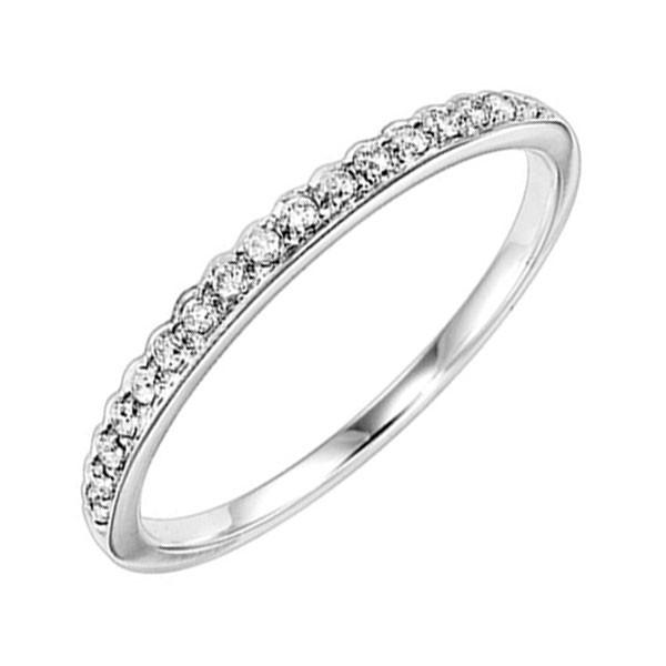 Diamond 1/4 Eternity Asymmetrical Band In 14k White Gold