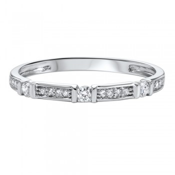 14K White Gold Stackable Prong Diamond Band (1/6 Ct. Tw.)