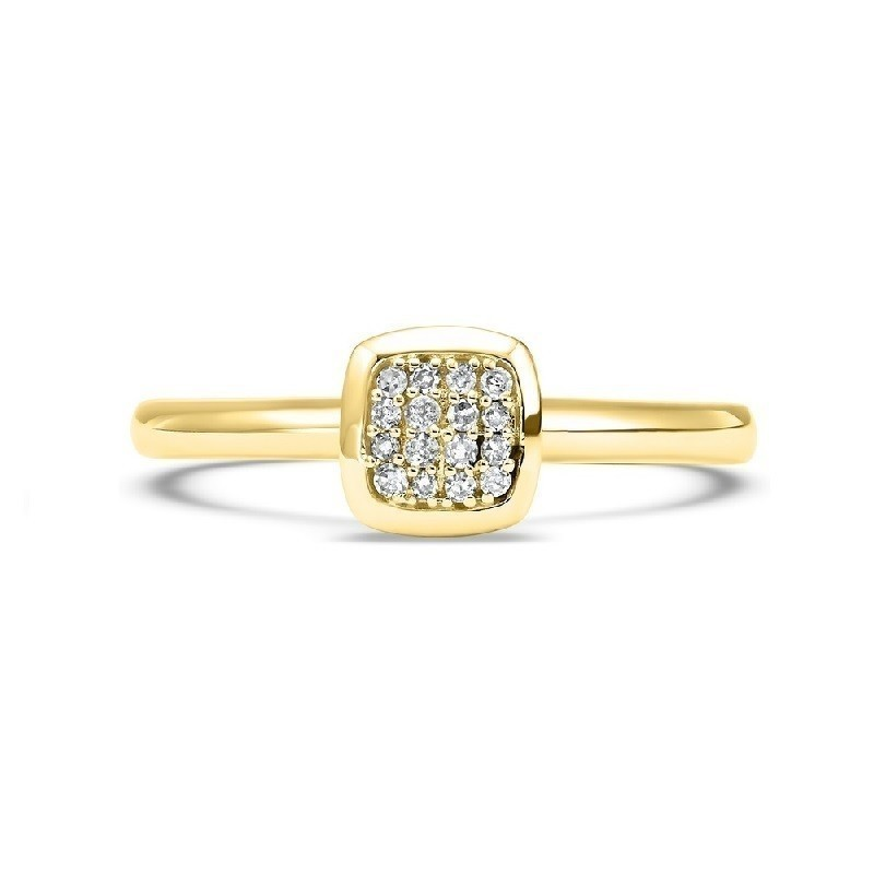 14K Yellow Gold Stackable Prong Diamond Band (1/12 Ct. Tw.)