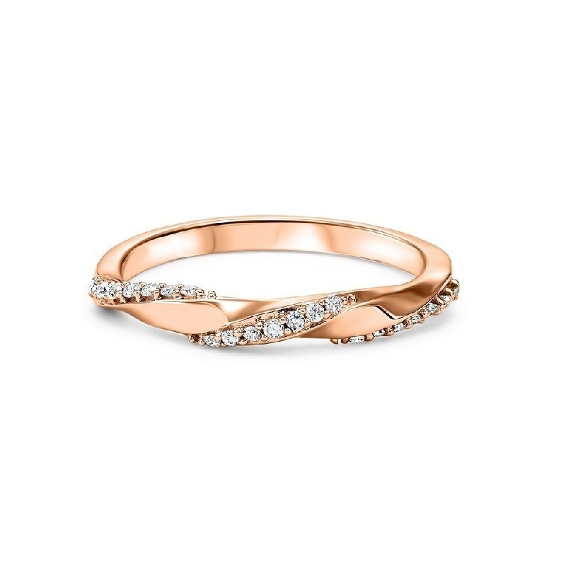 14K Rose Gold Stackable Prong Diamond Band (1/8 Ct. Tw.)