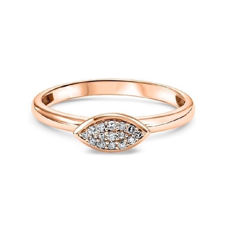 14K Rose Gold Stackable Prong Diamond Band (1/12 Ct. Tw.)