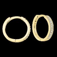 14K Yellow Gold Mixable Micro Prong Diamond Earrings 1/7CT