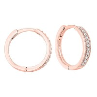 14K Rose Gold Mixable Micro Prong Diamond Earrings 1/7CT