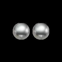 Grey Freshwater Pearl Stud Earrings In Sterling Silver (8MM)