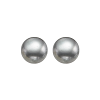 Grey Freshwater Pearl Stud Earrings In Sterling Silver (8.5MM)
