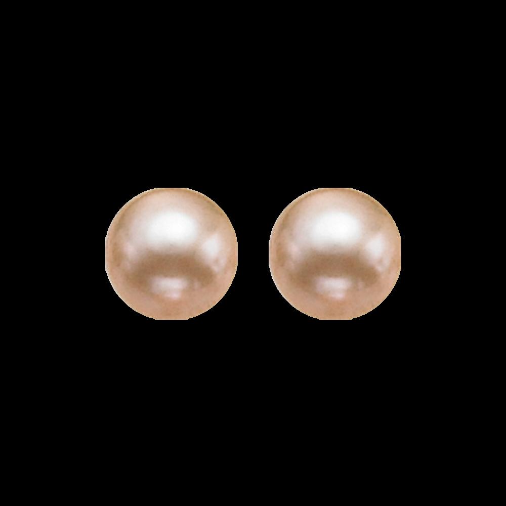 Gold Freshwater Pearl Stud Earrings In Sterling Silver (5.5MM)