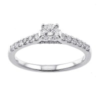 14K White Gold Cash&Carry Prong Diamond Ring (3/5 Ct. Tw.)