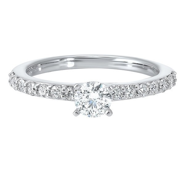 14K White Gold Cash&Carry Shared Prong Diamond Ring (3/4 Ct. Tw.)