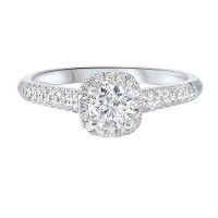 14K White Gold Cash&Carry Prong Diamond Ring (3/4 Ct. Tw.)