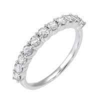 14K White Gold 11 Stone Shared Prong Diamond Band (3/4 Ct. Tw.)